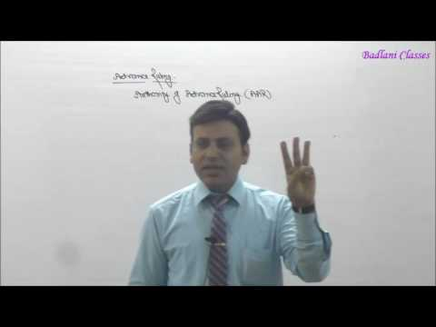 Income Tax : AY 16-17 : Advance Ruling : Lecture 1