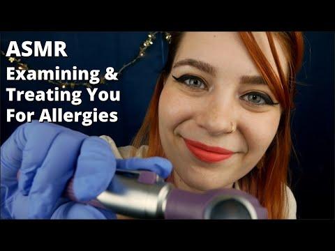 ASMR Doctor Examination + Treatment For Allergies | Soft Spoken Medical RP