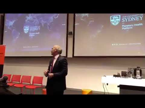 Vice Chancellor of Sydney University, Dr Michael Spence, talking at the #PlanetaryHealth launch