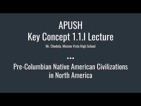 APUSH Key Concept 1.1.I: Pre-Columbian Native American Civilizations in North America