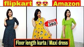 kurta & maxi dress under Rs 550 | summer कुर्ती haul | flipkart kurti review | amazon kurti review