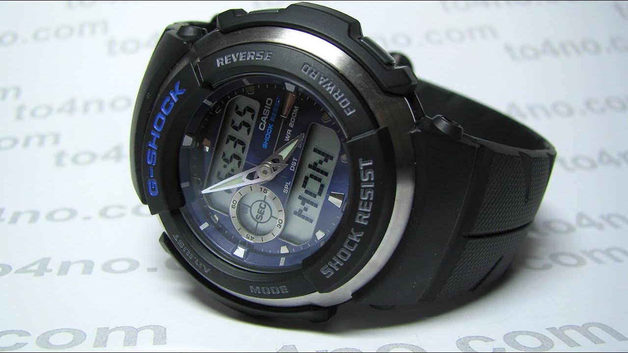 Resistant Sports Casio Ana G Digi Shock Rider Street Watch 300 WD2HIY9eE