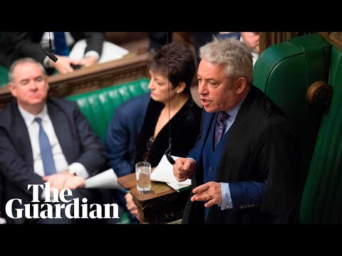 'That sticker is not mine': John Bercow forthright about wife's anti-Brexit sticker