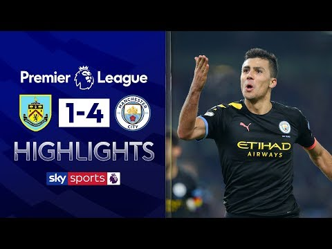 Rodri scores powerful wonder goal in City rout! | Burnley 1-4 Man City | Premier League Highlights