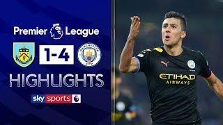 Rodri scores powerful wonder goal in City rout! | Burnley 1-4 Man City | Premier League Highlights