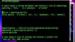 Python 15:  Split and Join