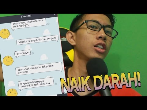TEXT PRANK KE SIMSIMI!! BIKIN NAIK DARAH - (BAD - Young Lex Ft AwKarin)