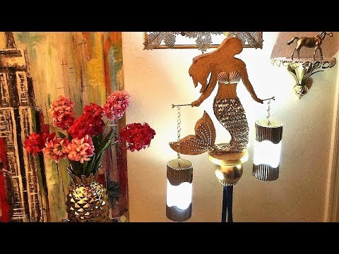 Diy Floor Lamp| Mermaid Lamp| Quick and Easy Abstract Mermaid Lighting Idea.