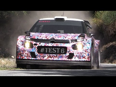 2017 Citroën C3 WRC Sound - Test in Italy