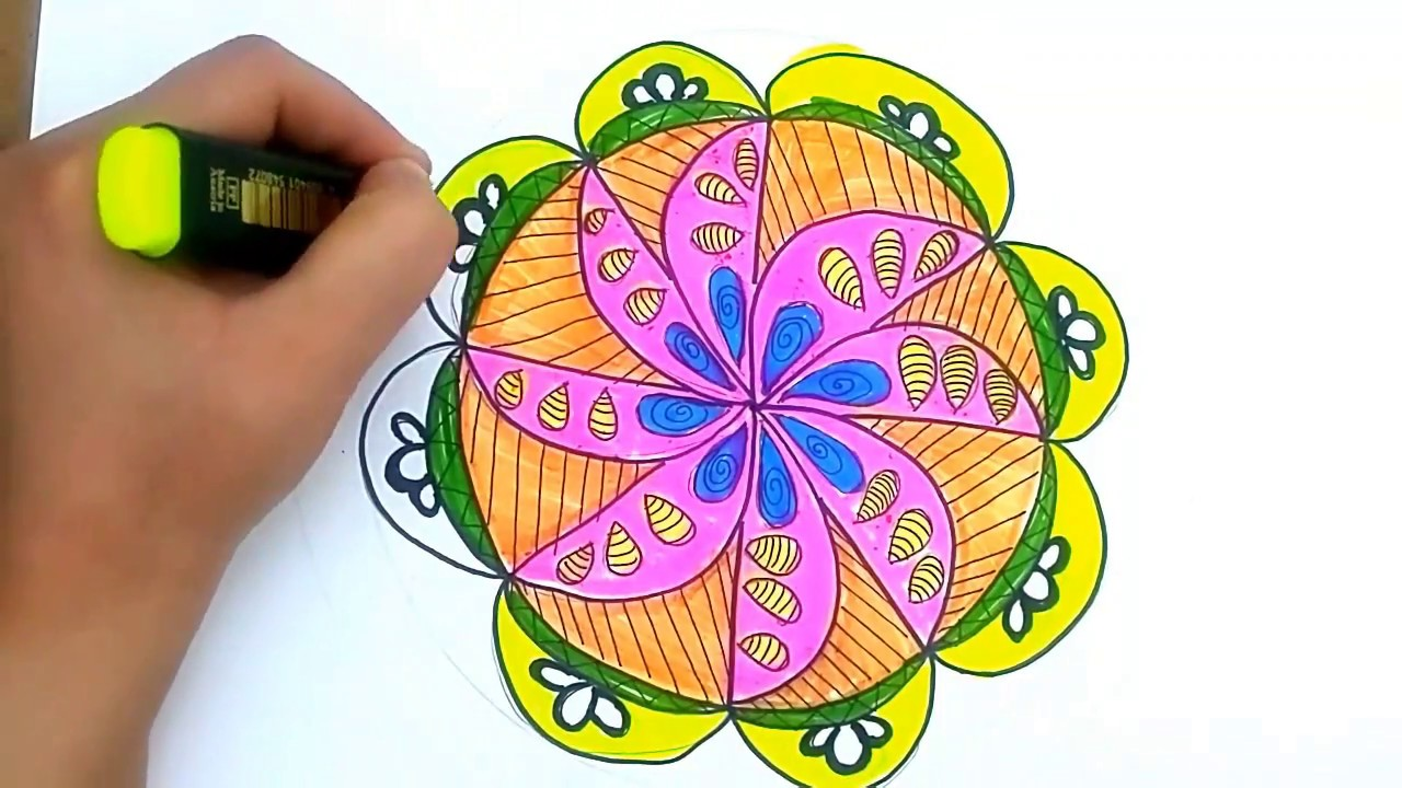 Mandala Resmi Cizimi Desen Calismasi Mandala Drawing Youtube