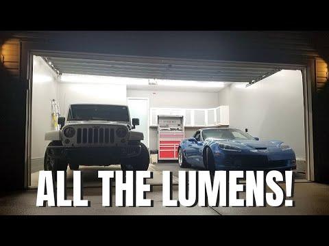 GARAGE SHOP LED Lighting Install   Amazon   Cheap & Bright   Garage Makeover Pt. 2
