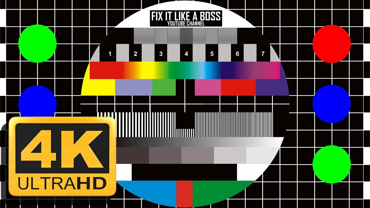 UHD Calibration video 4K Test pattern 20min  with Ambient music