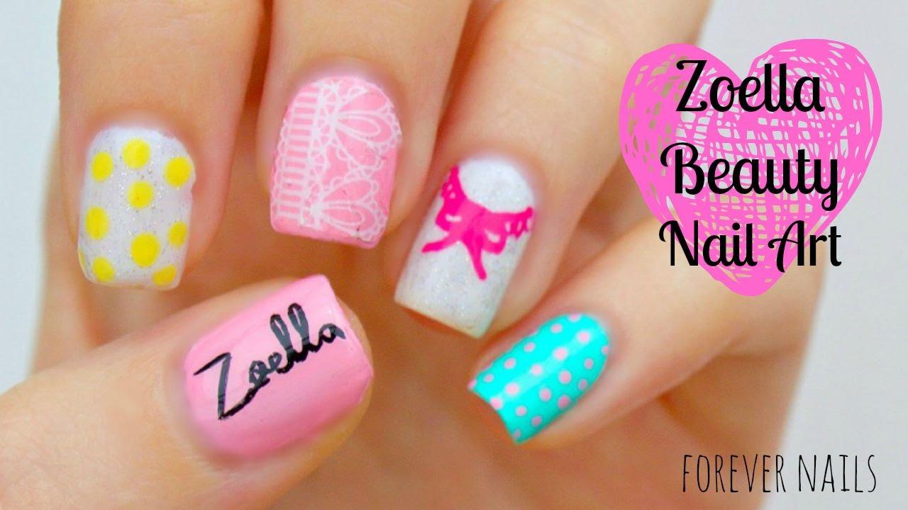 Zoella Beauty Nail Art - YouTube