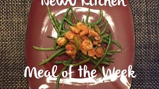 Lemon Garlic Shrimp With Green Bean Almondine - Newu Kitchen Episode 5