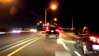 Pulaski Skyway westbound (Night)