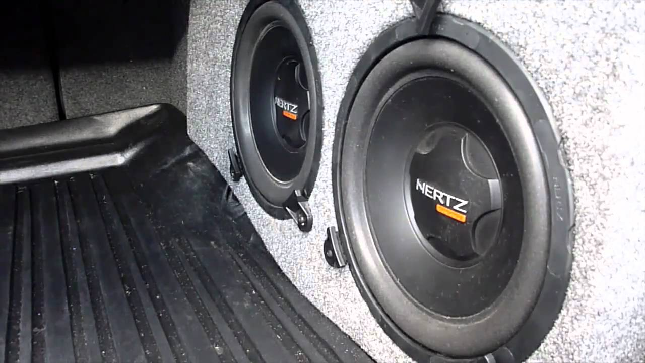 Acura TSX Custom Subwoofer Installation YouTube - Acura tsx speaker replacement