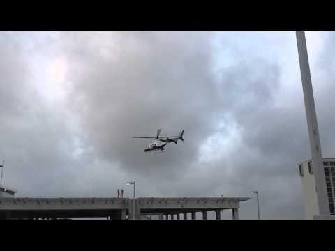 Life Flight Take Off Bell 430 University of Texas Health Science Center San Antonio