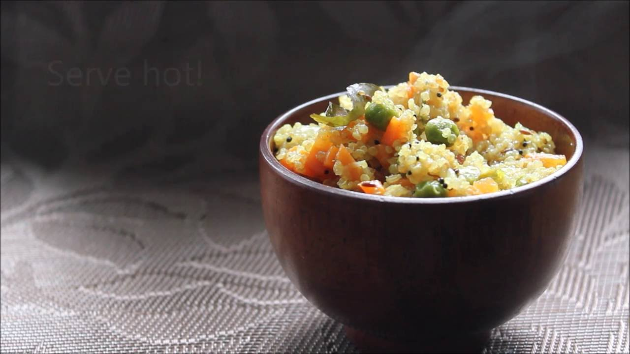 Vegetable quinoa upma indian quinoa recipes youtube vegetable quinoa upma indian quinoa recipes forumfinder