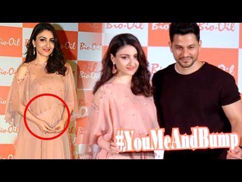 Soha Ali Khan FIRST Public Appearance Flaunting Baby Bump