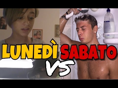 LUNEDÌ VS SABATO - DIFFERENZE