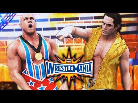 WWE 2K18 My Career Mode   Ep 91   WRESTLEMANIA!!! FINALLY FACING KURT ANGLE!!!
