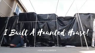 How to build a cheap haunted house! 2018!