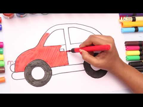 How To Draw And Paint Car For Kids Coloring Pages For Children My Clicks Media
