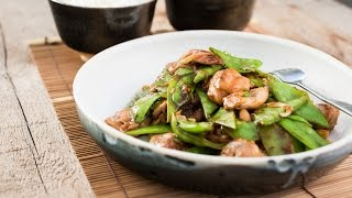 Wok-fried Chicken with Snow Peas and Oyster Sauce   Recipe   Wok Cooking   ASKO Volcano Wok Burner