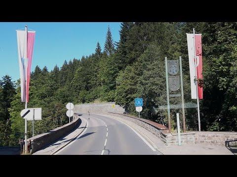 Gebirgslandschaft an der B19 zwischen Riezlern und Oberstdorf