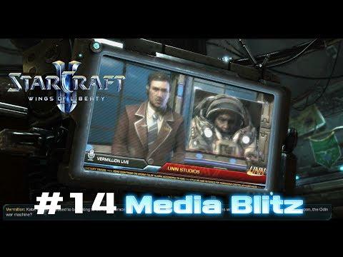 StarCraft II : Wings of Liberty Walkthrough Video#14 : Media Blitz