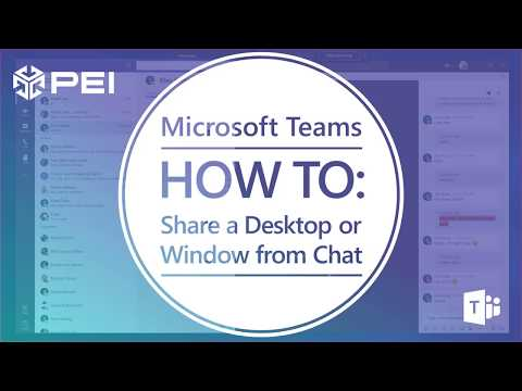 Video] Share your Screen in Microsoft Teams from Chat