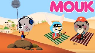 Mouk - Mouk discovers foreign music: the Dune Song and Music in the Desert | Cartoon for kids