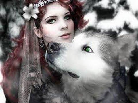 Волк девушка фото