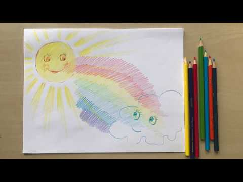 How To Draw A Rainbow. Natalka's Art For Kids.