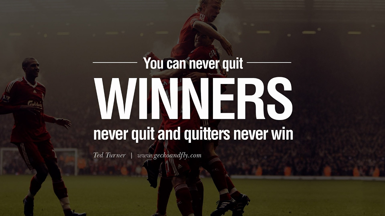 winners never quit football motivational youtube