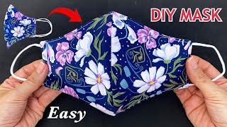 Very Easy 2 In 1 Cute Mask Diy 3 Layers Face Mask Easy Pattern Sewing Tutorial Mask Making Ideas