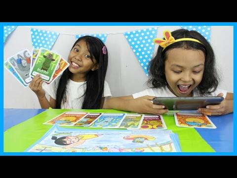 Wow ... kartu nya bisa hidup dan bergerak ! Augmented Reality Card ♥ HiLo School Draw and Play