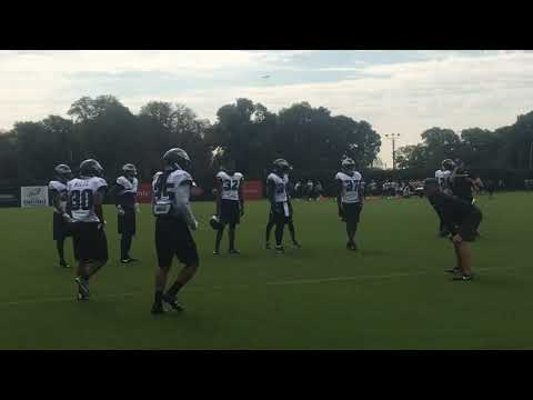 Philadelphia Eagles' Ronald Darby, other DBs run through drills at practice