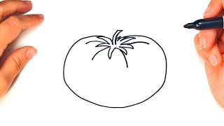 How to draw a Tomato | Tomato Food Easy Draw Tutorial