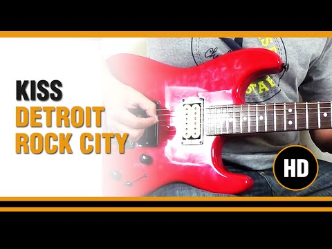 Como tocar Detroit Rock city de KISS en Guitarra electrica CLASE TUTORIAL