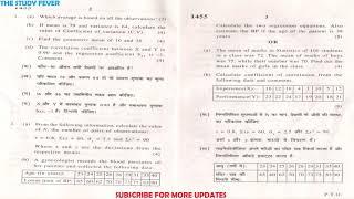 B.com 2nd Year - Business Statistics and Mathematics (B-101) (Part-B) 2019 Question Paper [SOL]
