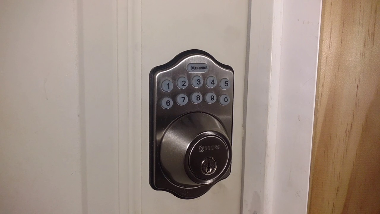 Brinks Electronic Programmable Deadbolt Youtube