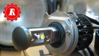 простые штуки - Светодиод мне в ФАРУ (обзор LED авто ламп цоколь  H4)(покупал здесь : http://ali.pub/16f8c Как светят светодиодные лампочки для головного света, могут ли они заменить..., 2016-01-16T07:45:00.000Z)
