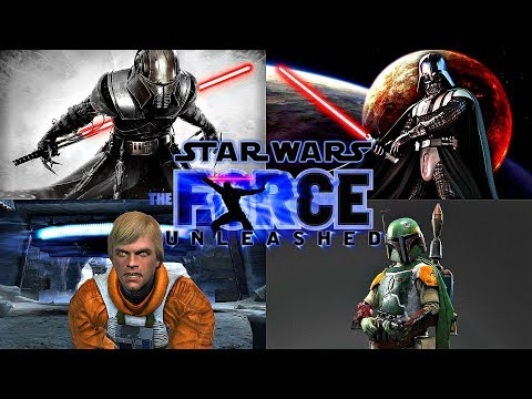 Star Wars The Force Unleashed Series - ALL BOSSES + DLC