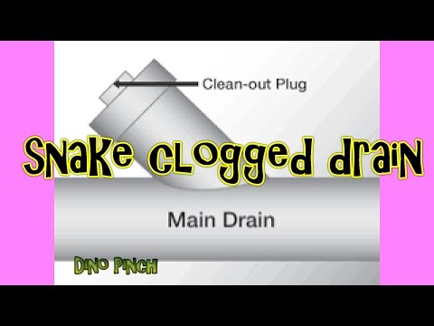 snake a clogged sink drain pipe youtube. Black Bedroom Furniture Sets. Home Design Ideas