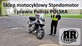 Sklep motocyklowy Standomotor i prawie Policja POLSKA
