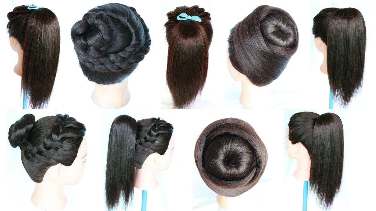 7 easy and simple hairstyles for girls | hair style girl | hairstyles for girls | ponytail hairstyle