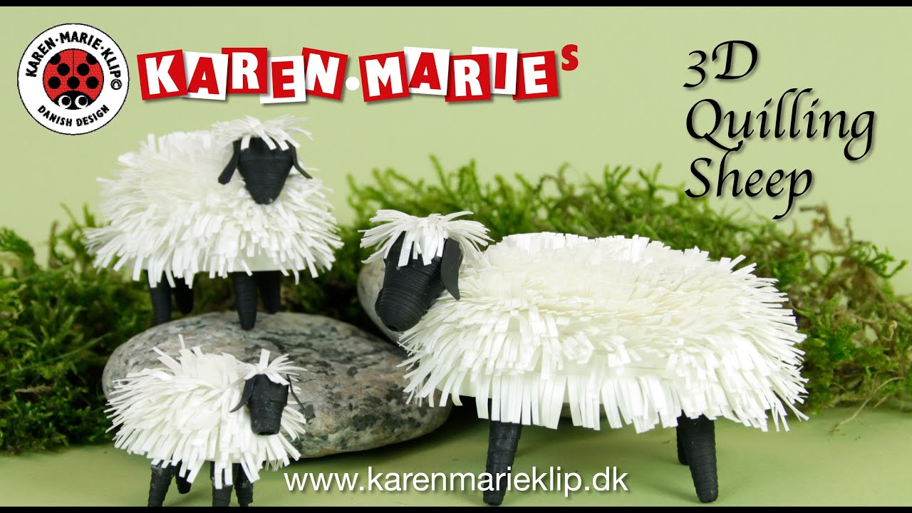 Papercraft 3D Quilling Sheep/ Får/ Schaf