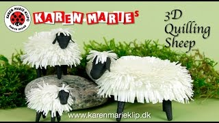 3D Quilling Sheep/ Får/ Schaf