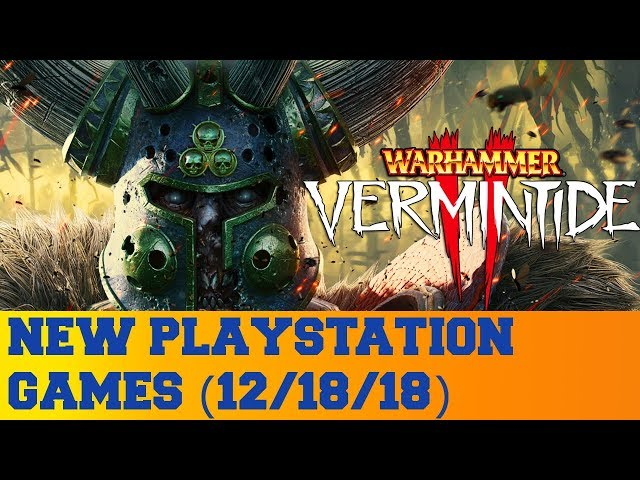 New PlayStation Games for December 18th 2018